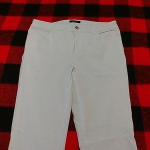 Chaps stretch white jeans